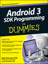 Android 3 SDK Programming For Dummies (eBook)